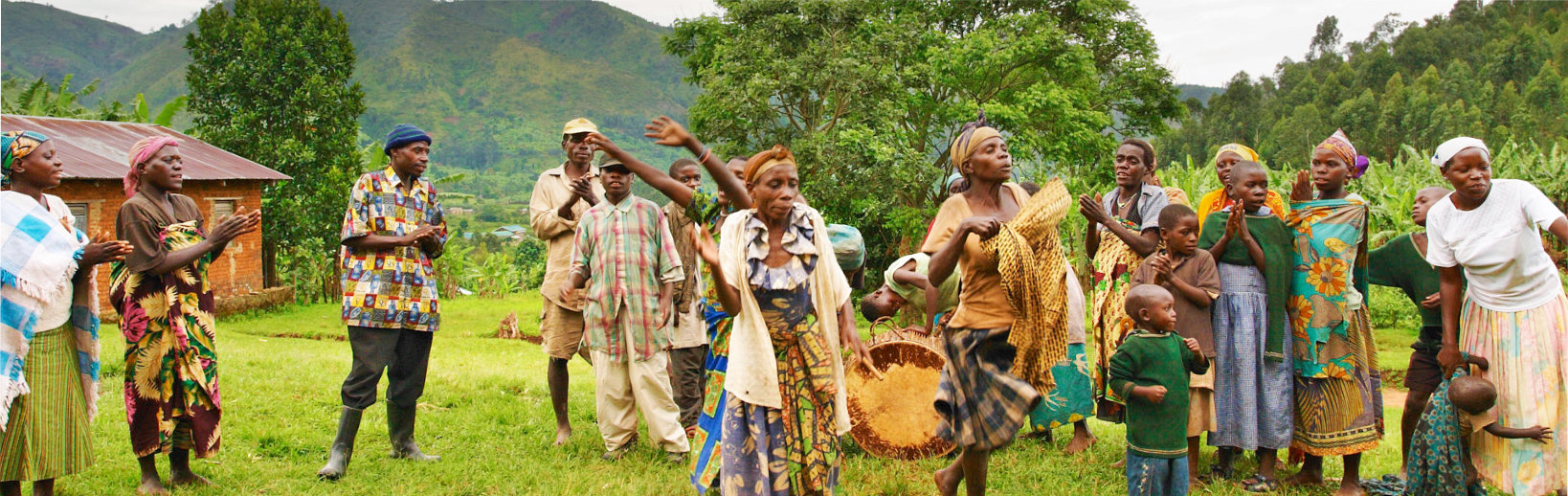 families singing and dancing