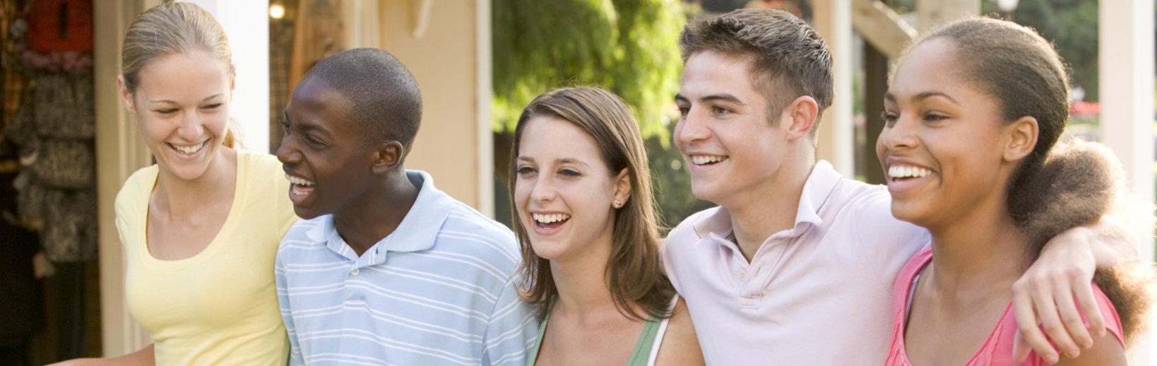 Multi racial teenagers